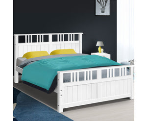 Saturn Wooden Bed Frame 'Queen' Timber Adults/Child {No Mattress} [EST. RESTOCK 26/10/20]