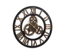 Load image into Gallery viewer, FLF Wall Clock Extra Large, Vintage / Industrial, Silent 3D - 80cm (Brown) [EST. RESTOCK 21/12/20]