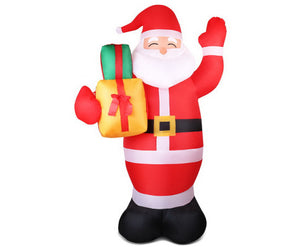 Elfie 2.4M Christmas Inflatables - Santa Xmas Light Decor LED Airpower