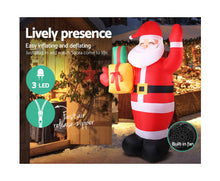 Load image into Gallery viewer, Elfie 2.4M Christmas Inflatables - Santa Xmas Light Decor LED Airpower