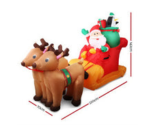 Load image into Gallery viewer, Elfie 5M Christmas Inflatables - Santas & Sleigh  Light Decor LED Airpower