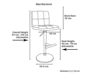 Poppi Red Backrest Barstools x 2 [EST, RESTOCK TBA]