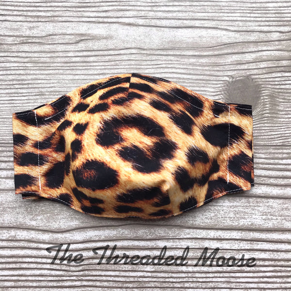 Leopard Mask - Multiple Sizes - Batwing - Ready to Ship