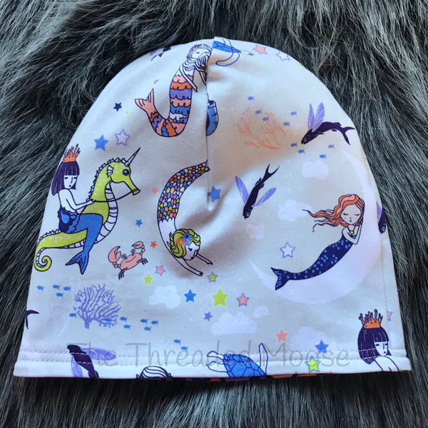 Mermaid Reversible Slouchy Beanie - 1-3 Yrs - Ready To Ship