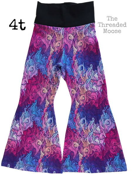Ready to Ship - Fire on the Water Bell Bottoms - 4T