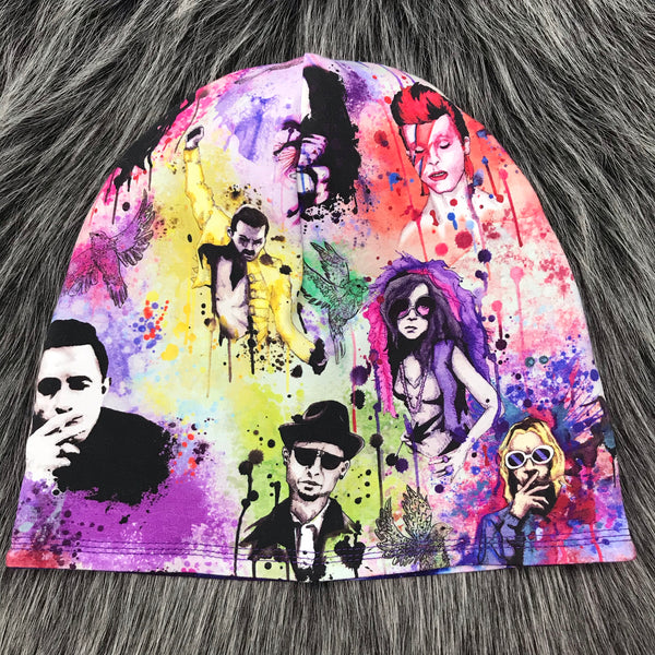 Music Icons Reversible Slouchy Beanie - Made To Order