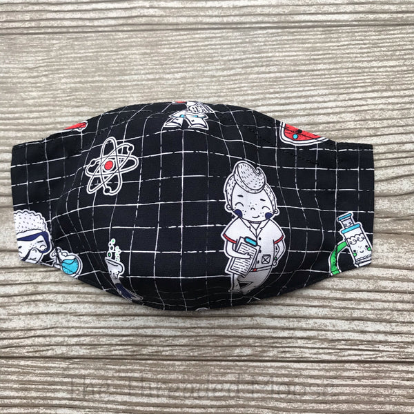 Boy Scientist Mask - Batwing - Made to Order - Custom Fabric