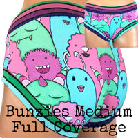 Size Medium - Monster Bunzies - Full Coverage - Ready to Ship