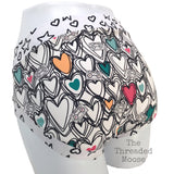 Mixed Tapes & Hearts Adult Scrundies/Bunzies - Made To Order