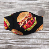 Burger Mask - Child - Batwing - Ready to Ship