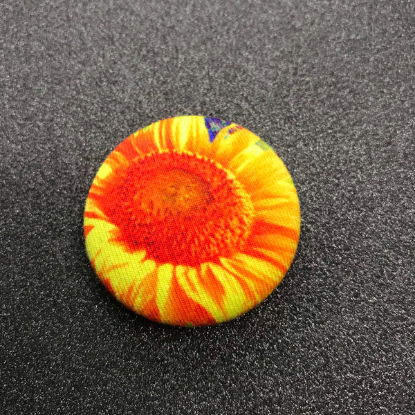 "Sunflower Magnet - 1.5"" - Ready To Ship"