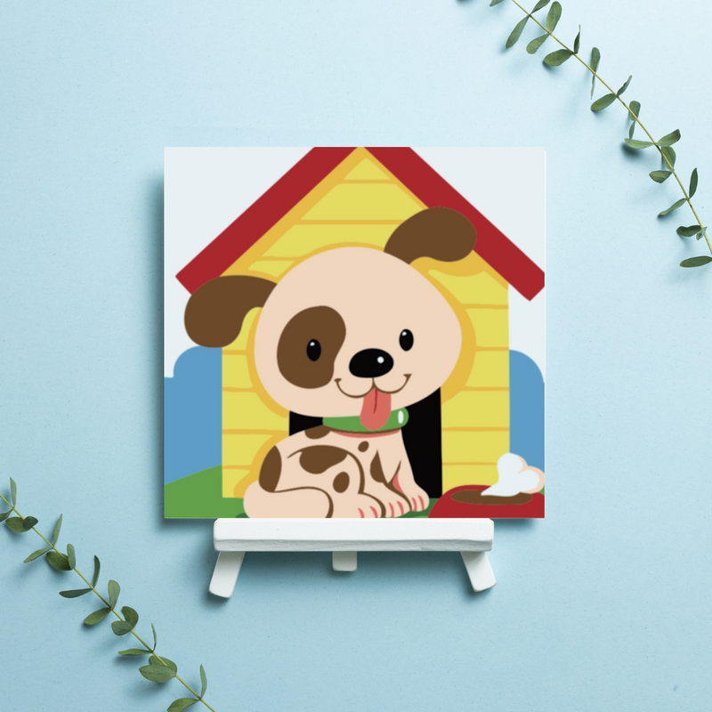 Spotty the Pup - Limited edition kids paint by numbers