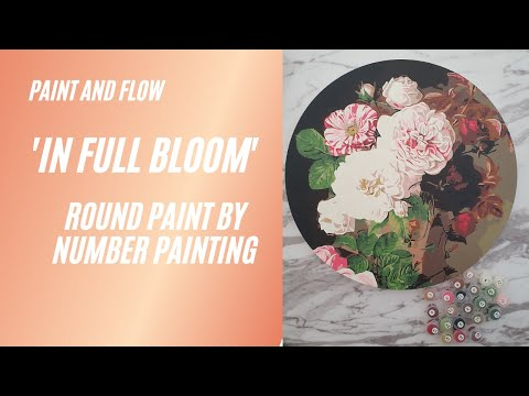 In Full Bloom - Limited edition round paint by numbers