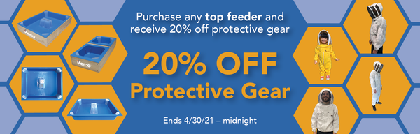 Beekeeping feeder sale and protective gear