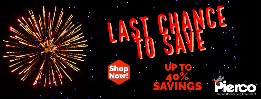 Last chance of the year Sale Save up to 40% Gifts for beekeepers