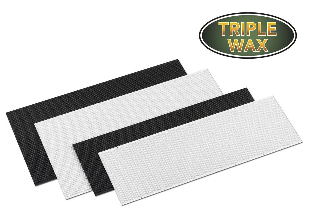 "6"" Medium Plastic Foundation Triple Waxed - 100 pack ($1.25 ea.)"