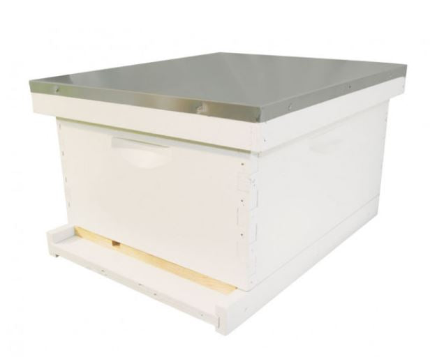 10 Frame Beehive Starter Kit - Assembled, Painted, w/ Double Waxed Wood Frames