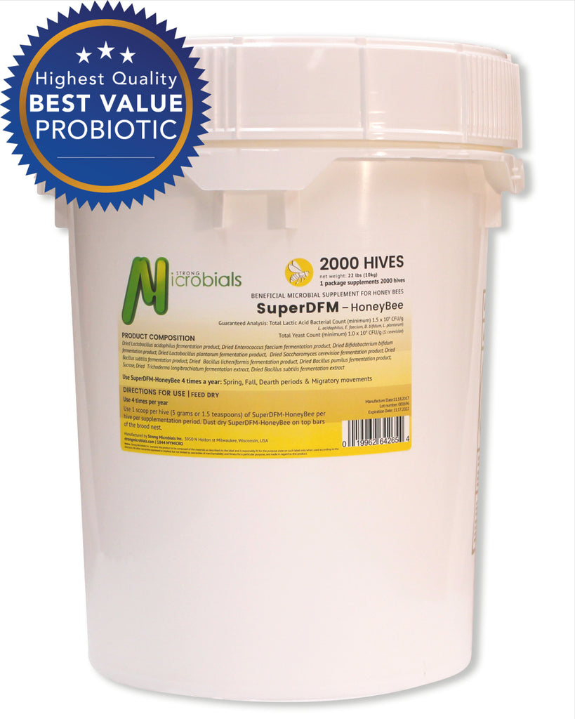 SuperDFM Honey Bee | 2,000 Hive Pail - Commercial Dosage ($0.49/treatment)