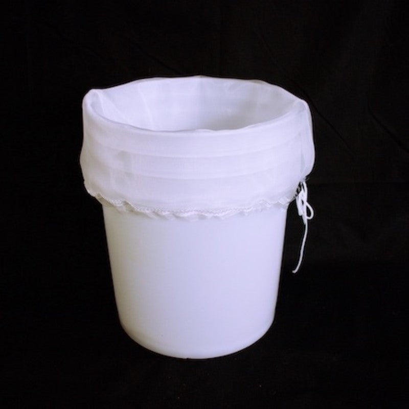 500 Micron 5 Gallon Filter Bag w/ Draw String - Reusable & Washable