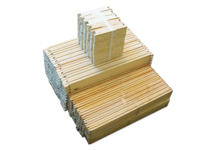 "6 1/4"" Unassembled Medium Wood Frame Groove Top & Bottom - 100 Pack ($1.20/ea.)"