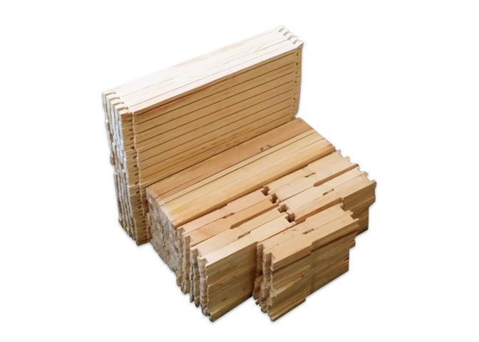 "9 1/8"" Unassembled Deep Wood Frame Groove Top & Bottom - 100 Pack ($1.35/ea.)"