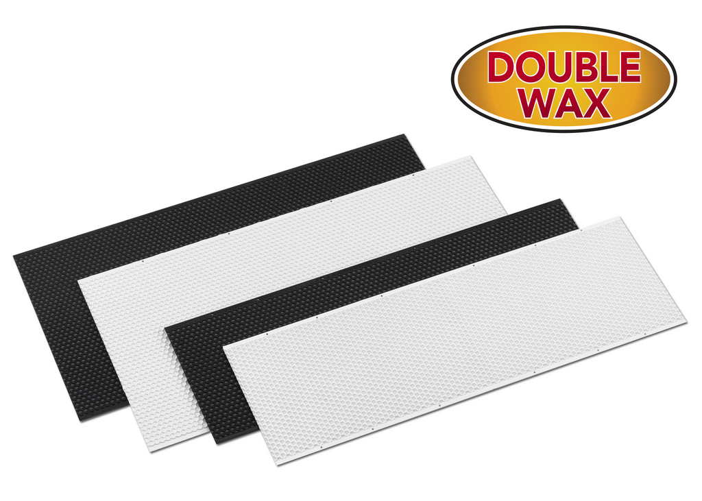 "9"" Deep Plastic Foundation Double Wax - 100 pack ($1.34/ea.)"