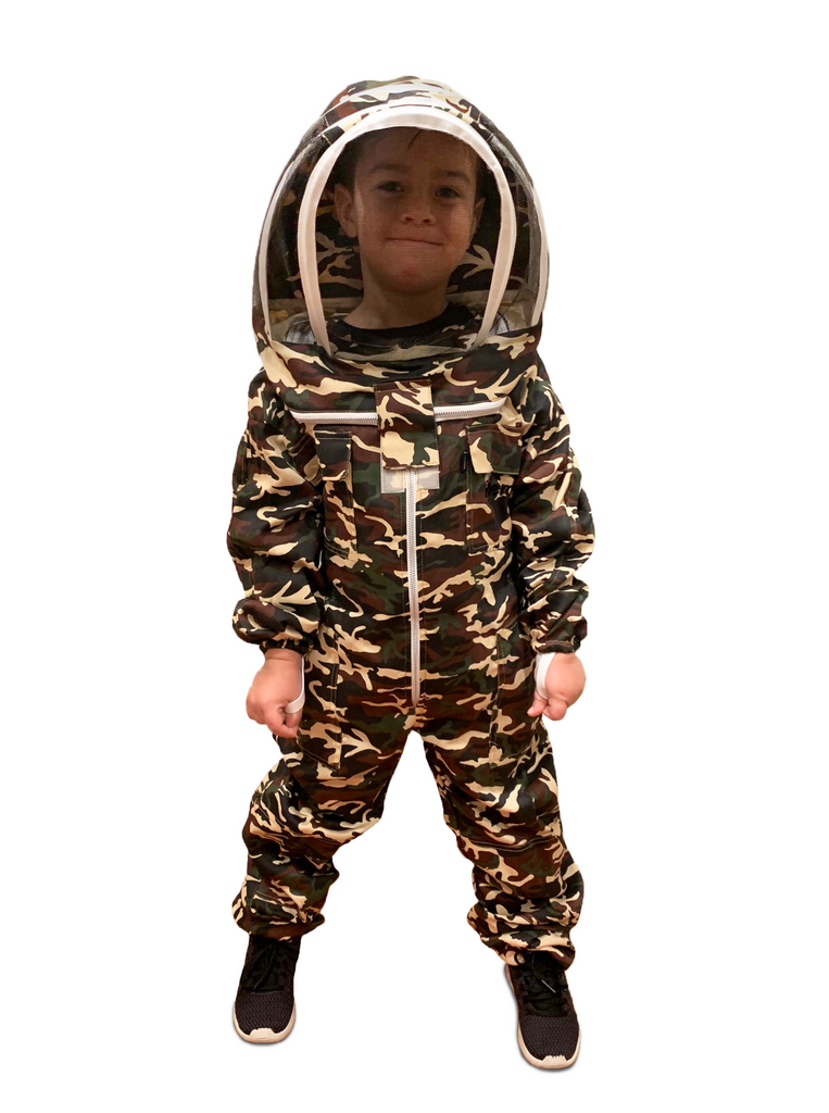 Kids / Child Beekeeping Suit . Protective Bee Wear Camo camoflauge