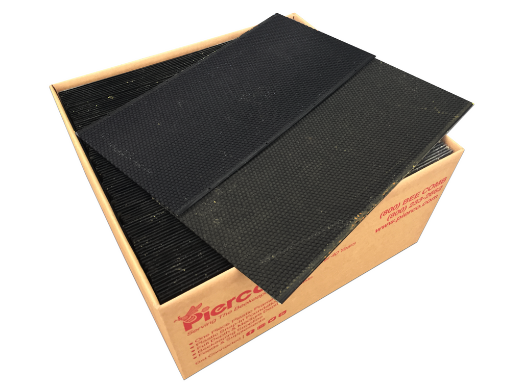 "9"" Deep Plastic Foundation DOUBLE WAX - 100 pack ($1.29 ea.)"