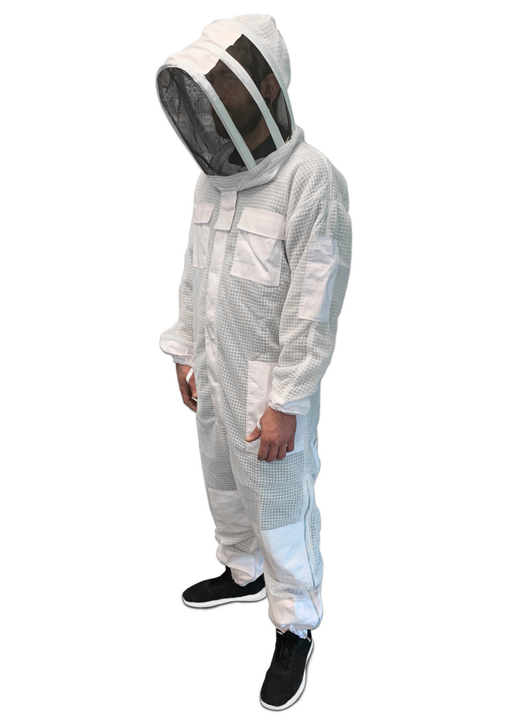 Triple Layer Protective Ventilated Bee Suit with Veil - AirFlow Series