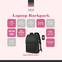 Bailey Laptop Backpack with USB charging port