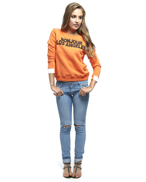 AIKO - Bonjour Los Angeles Orange Sweatshirt