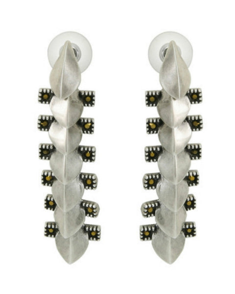 Giles & Brothers - Petal Fringe Pave Earrings