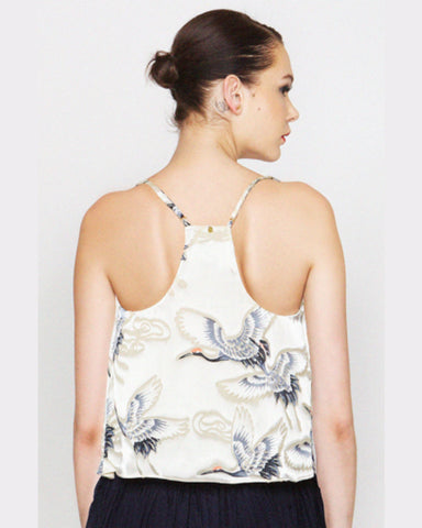 harlyn - Annette Swan Print Strappy Tank