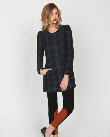 harlyn - Georgette Plaid Coat