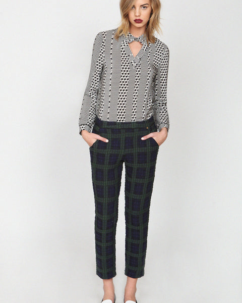 harlyn - Sienna Plaid Peg Leg Trousers