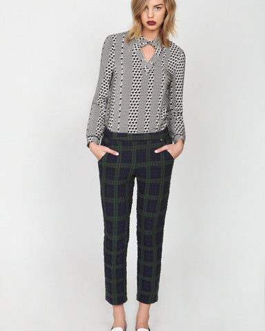 Love Zooey - Bluedot High Waisted Trousers