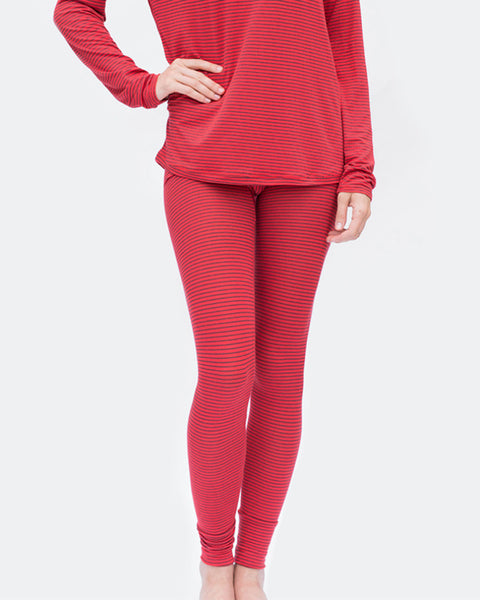 Maison Du Soir - Madrid Red Stripe Leggings