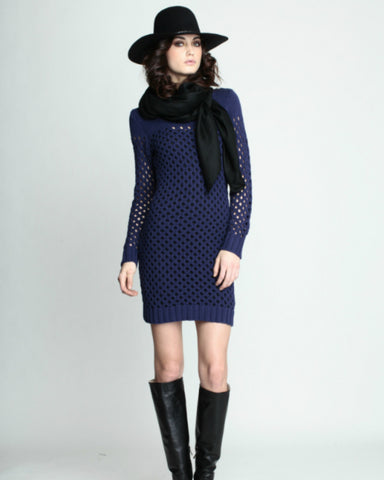 Mara Hoffman - Knit Navy Mini Dress