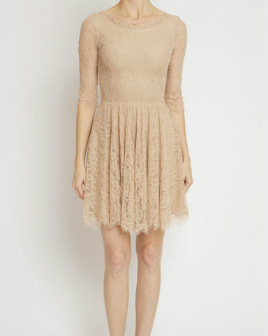 Paper Crown - Quartz Lace Almond Dress