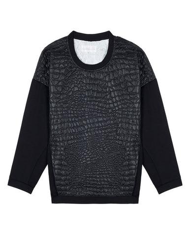 Shakuhachi - Mock Croc Sweater