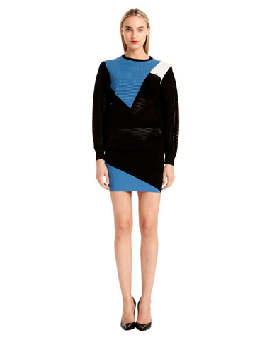 Torn by Ronny Kobo - Zivinia Blue/Black Colorblock Sweater