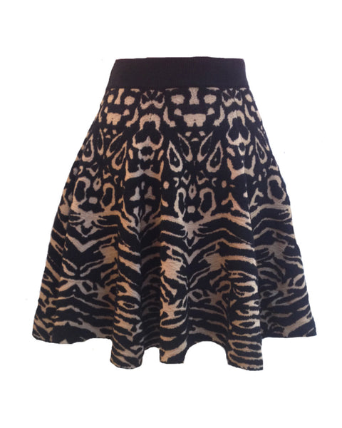 Torn by Ronny Kobo - Anabella Black/Camel Skirt
