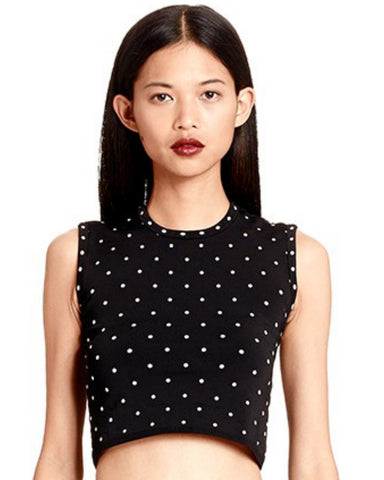 Torn by Ronny Kobo - Edna Polka Dot Crop Top