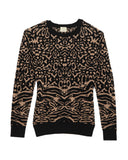 Torn by Ronny Kobo - Randy Leopard Camel Sweater
