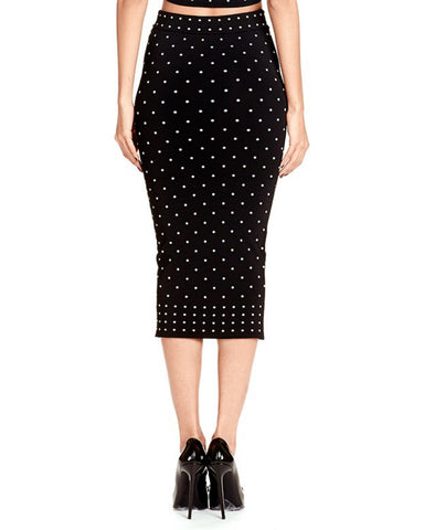 Torn by Ronny Kobo - Renata Polka Dot Skirt