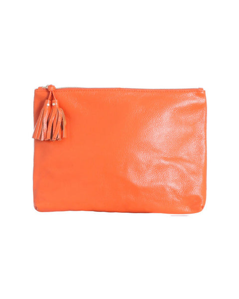Zimmermann - Orange Envelope Clutch with Tassel