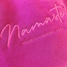 "Load image into Gallery viewer, EMBROIDED SLOUCHY CREW ""NAMASTE"""
