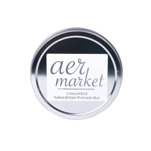 Aer Market Hair Pomade Bar in Metal Tin - Unscented