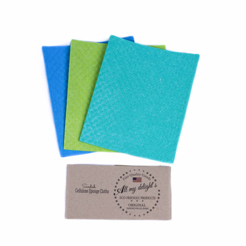 All My Delight's Swedish Dishcloths - 3-pack Lakehouse Breeze