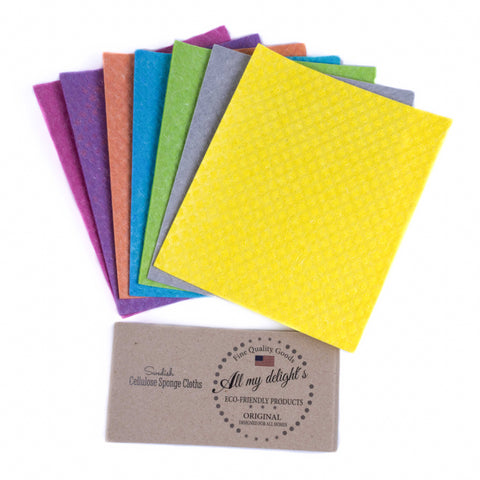 All My Delight's Swedish Dishcloths - 7-Pack Premium Assorted Colors